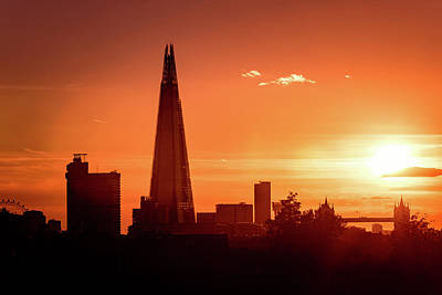Photograph - London Shard Sunset by Matt Malloy