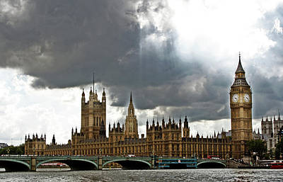 Photograph - London Skies by La Dolce Vita