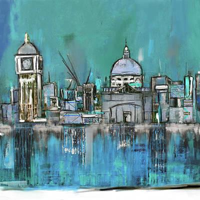 Shards Painting - London Skyline 197 1 by Mawra Tahreem