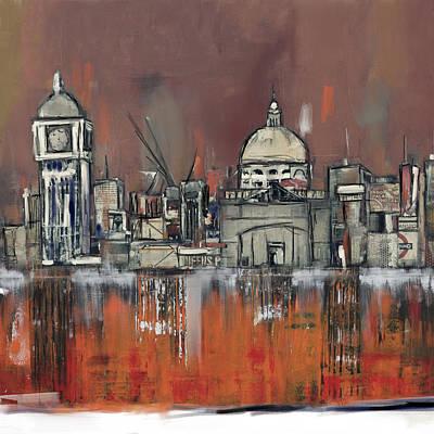 Shards Painting - London Skyline 197 3 by Mawra Tahreem