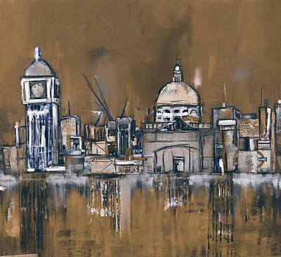 Shards Painting - London Skyline 197 4 by Mawra Tahreem