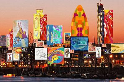 London Skyline Collage 2 Art Print