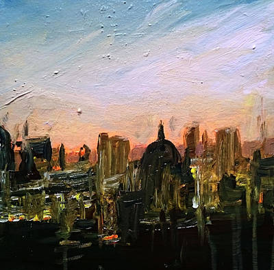 Painting - London Skyline Dawn by Paul Mitchell