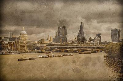 Photograph - London, England - London Skyline East by Mark Forte