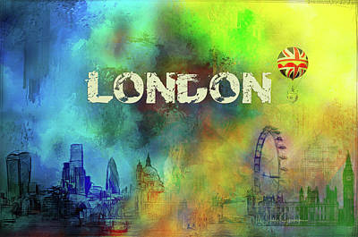 Digital Art - London - Skyline by Nicky Jameson
