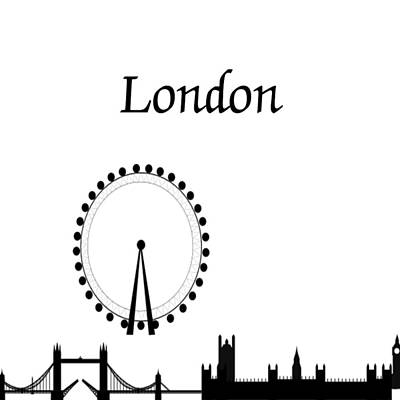 Photograph - London Skyline Outline by Florene Welebny