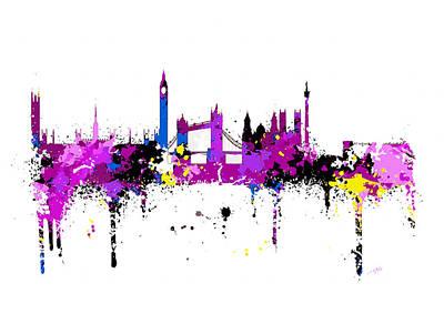 London Skyline Digital Art - London Skyline by Peter Stevenson