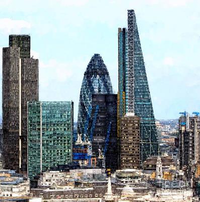 Digital Art - London Skyline by Rafael Salazar