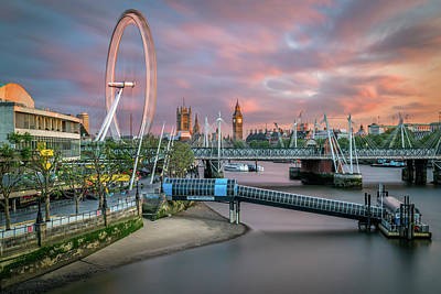 London Skyline Royalty-Free and Rights-Managed Images - London Skyline Sunset by James Udall