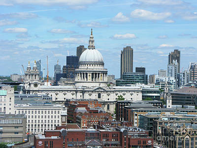 Photograph - London Skyscrape - St. Paul's by Mini Arora