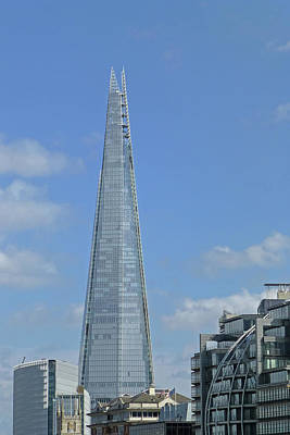 Photograph - London Skyscraper - The Shard by Gill Billington