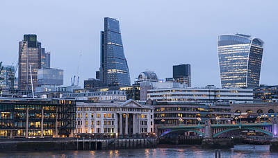 Photograph - London Skyscrapers by David Isaacson