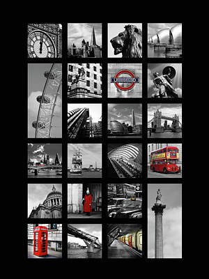 The Tube Wall Art - Photograph - London Squares by Mark Rogan