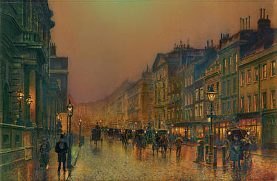 Victorian Era Wall Art - Painting - London, St James' Street by John Atkinson Grimshaw