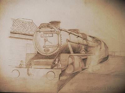 Drawing - London Steam Locomotive  by Robert Monk