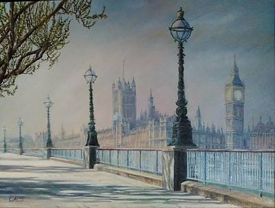London Skyline Painting - London. Sunny Morning by Svetlana Matevosjan Art