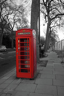 Photograph - London Telephone Box by Aidan Moran