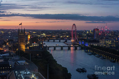 Photograph - London Thames Almost Night by Mike Reid