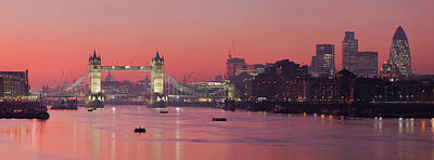 Digital Art - London Thames by Thomas M Pikolin