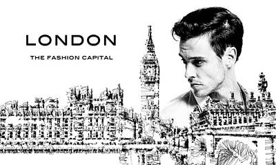 Digital Art - London The Fashion Capital by ISAW Company