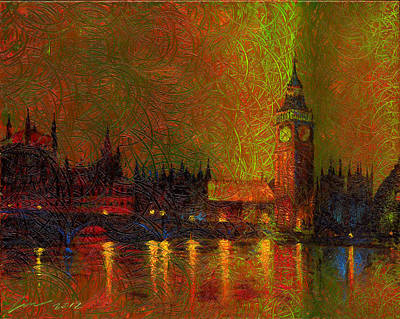 World No. 1 Painting - London Time by Time Lin