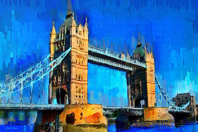 Tower Of London Digital Art - London Tower Bridge 1 - Da by Leonardo Digenio