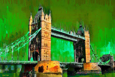House Digital Art - London Tower Bridge 11 - Da by Leonardo Digenio