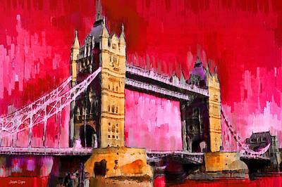 Iconic Painting - London Tower Bridge 13 - Pa by Leonardo Digenio