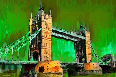 Elizabeth Digital Art - London Tower Bridge 14 - Da by Leonardo Digenio