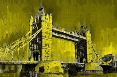 Suspension Digital Art - London Tower Bridge 16 - Da by Leonardo Digenio