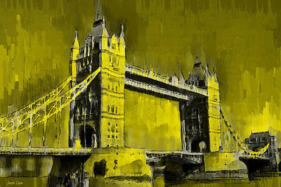 Tower Of London Painting - London Tower Bridge 16 - Pa by Leonardo Digenio