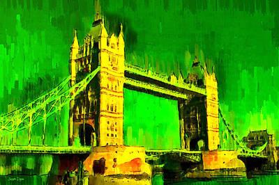 Bridges Digital Art - London Tower Bridge 17 - Da by Leonardo Digenio