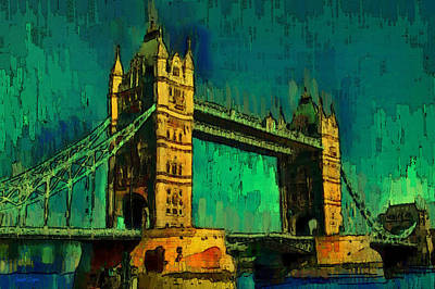 London Tower Bridge 18 - Da Art Print