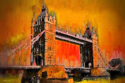 Tower Of London Digital Art - London Tower Bridge 19 - Da by Leonardo Digenio
