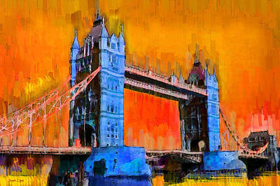 Exterior Painting - London Tower Bridge 2 - Pa by Leonardo Digenio