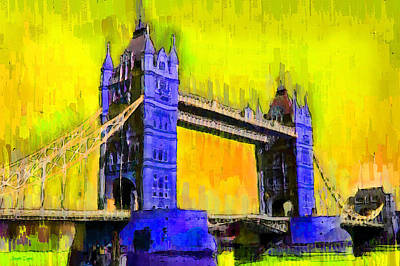 Elizabeth Digital Art - London Tower Bridge 3 - Da by Leonardo Digenio