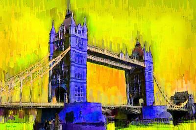 London Tower Bridge 3 - Pa Art Print by Leonardo Digenio