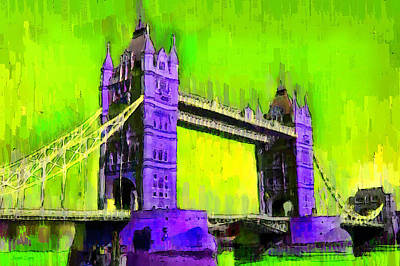 Elizabeth Digital Art - London Tower Bridge 4 - Da by Leonardo Digenio