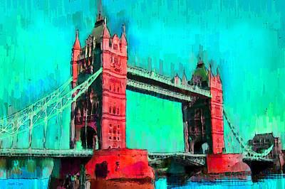 Tower Of London Painting - London Tower Bridge 5 - Pa by Leonardo Digenio