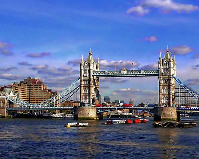 Photograph - London Tower Bridge by Anthony Dezenzio