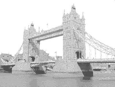 Drawing - London Tower Bridge - Cross Hatching by Samuel Majcen