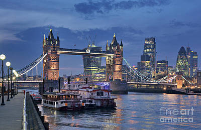City Of London Photograph - London Tower Bridge by David Bleeker