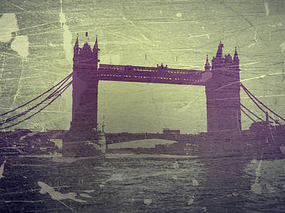 London Tower Bridge Print by Naxart Studio