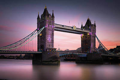 Tower Bridge Photograph - London, Tower Bridge Sunset by Ivo Kerssemakers