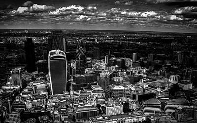 Light And Dark Photograph - London Town by Martin Newman