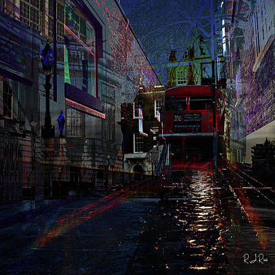 Digital Art - London Town by Richard Ricci