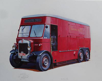 1930s 1930s Painting - London Transport Wrecker. by Mike Jeffries