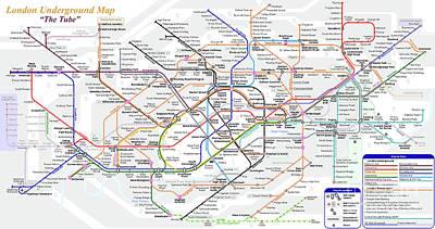 Photograph - London Underground Map by Doc Braham