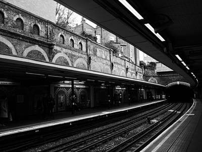Photograph - London Underground Station by Lexa Harpell