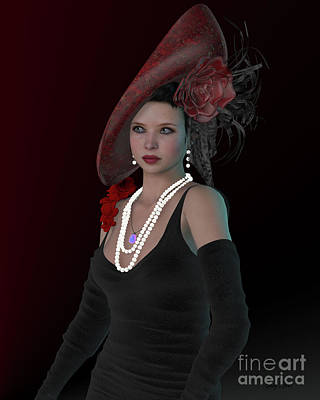 Victorian Era Digital Art - London Victorian Woman by Corey Ford